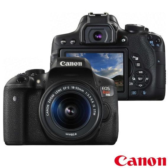 Câmera Digital Canon Eos Rebel T7i Com Tela 3.0 24.2mp