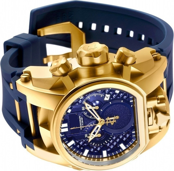Relógio Masculino Dourado Pulseira Borracha Luxo Dourado