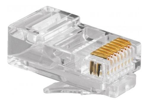 Pack De 100 Fichas Rj45 Categoría 5 E Ideal Armar Cable R