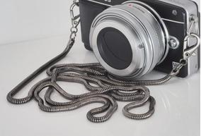 Alça P/ Camera Corrente Metálica Vintage P/ Pescoço / Ombro