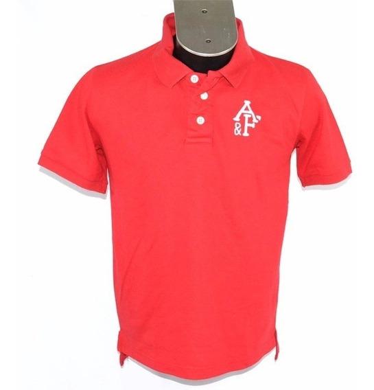 Abercrombie Polo Roja L