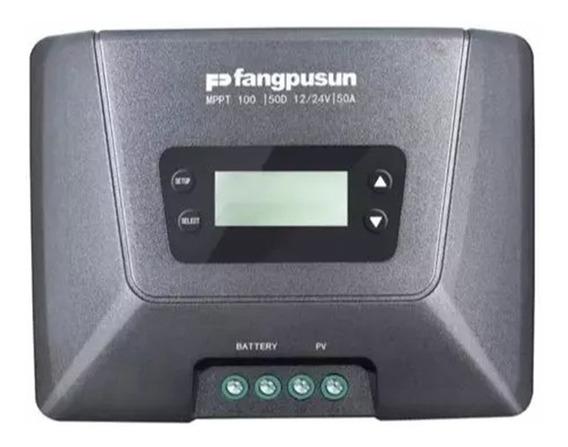 Controlador De Carga Solar Mppt 50a Fangpusun 100/50d 12e24v