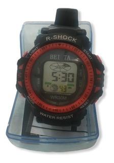 Reloj Pulsera Digital Burbuja Ep29398 Alarma Luz Cronometro