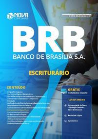 Apostila Brb-df - Escrituário 2019 + Caderno De Questões