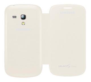 Samsung Galaxy S3 Mini I8190 Funda Flip Cover Blanco