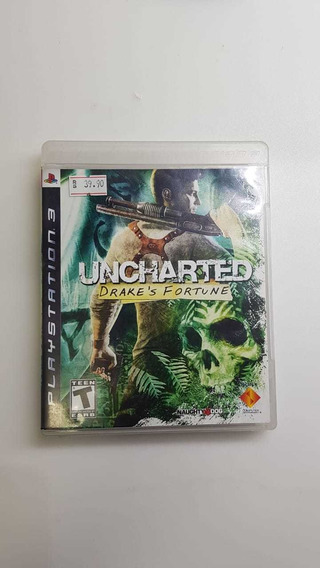 Jogo Ps3 - Uncharted Drake`s Fortune - Usado