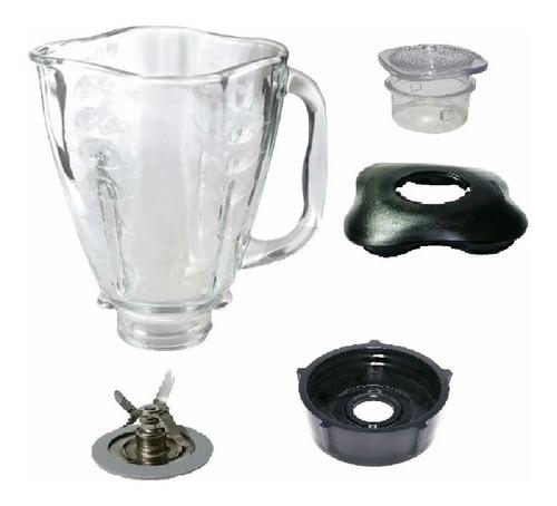 Tapa+ Vaso+ Cuchilla+ Base Licuadora Oster Vaso Trebol Vidri