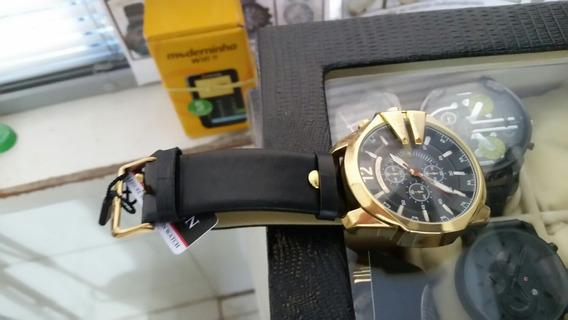 Relógio Curren Couro Genuíno P/ Romario