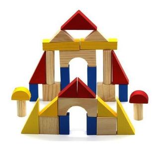 Bloques Cubos Madera Juegos Didácticos Infantiles Niños Bebe