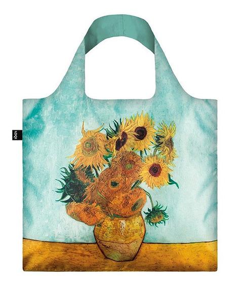 Bolsa Re Utilizable En Tela Con Estuche Girasoles Van Gogh