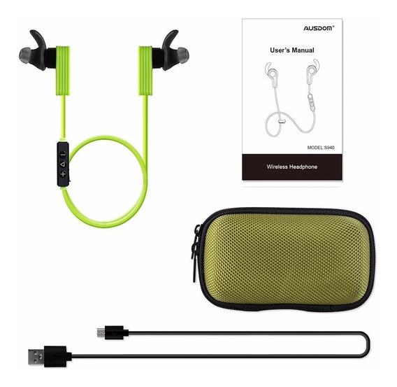 Fone De Ouvido Ausdom S940 Esportes Sem Fio Bluetooth