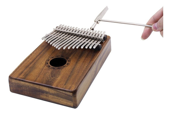 Sólido 17 Chave Kalimba Mbira Bolso Polegar Pianoportátil