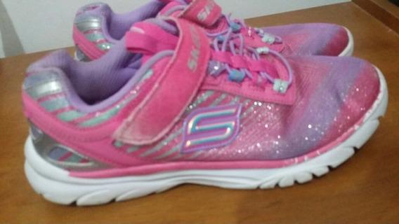 Zapatos De Niña Skechers Usados Talla 33 Economicos