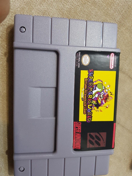 Super Mario World Terra Do Dinossauro C/ Bateria Salvar Snes
