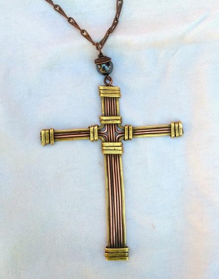 Corrente Com Crucifixo Artesanal (cruz)