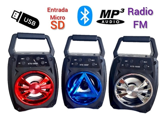 Corneta Inalámbrica Portátil, Con Bluetooth, Usb Y Radio Fm.