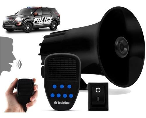 Imagem 1 de 5 de Sirene Automotiva 7 Tons Microfone Rontan Policia Bombeiro