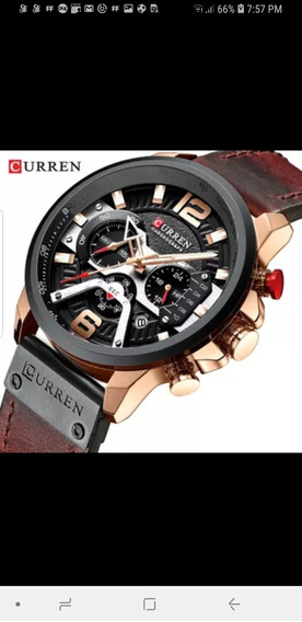 Top Marca De Luxo Curren Mens Relógios Couro Sports Watch Ho