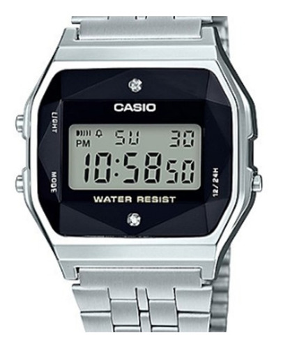 Relógio Casio Unissex Vintage Diamonds A159wad-1df