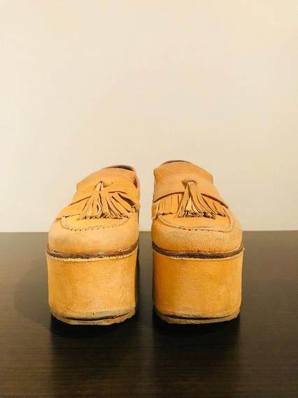 Zapatos Plataformas Bases Ay Not Dead Mostaza - Talle: 36