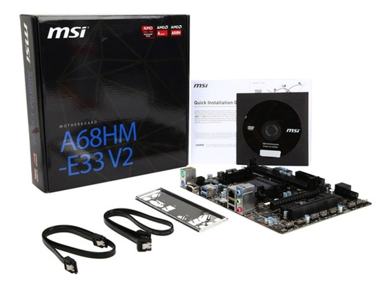Mother Msi A68hm-e33 Fm2 Hdmi Amd Apu Usb 3.0 Pce