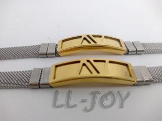 Pulseira Bracelete Prata E Dourada Banhado Ouro 18k