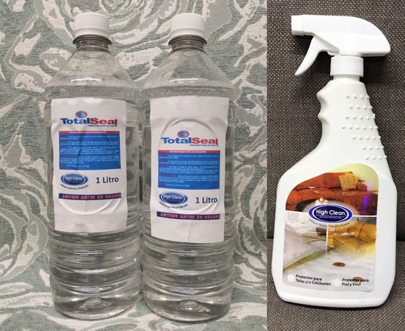 Protector Telas Teflon Liquidos Autos Muebles 2 Lts + Atomiz