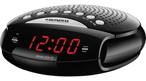 Rádio Relógio Com Am/fm. Alarme E Função Soneca Mondial Slee