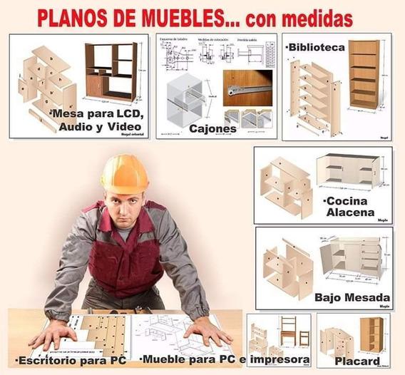 Carpintería 27 Planos De Muebles Con Medidas