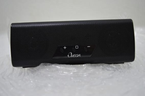 Caixa De Som Bluetooth/nfc Omega Bt100 Preto/vermelho