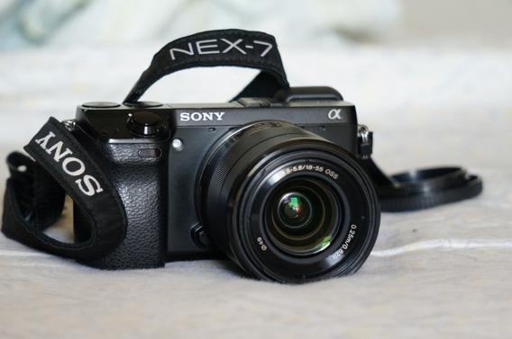 Câmera Sony Nex 7 + Lente 18-55mm + Flash Hvl F20am