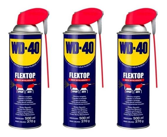 Kit 3 Wd-40 Desengripante 500ml Flextop (kit C/ 3)