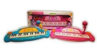 Organo Con Microfono A Pila Con Luces Y Sonidos