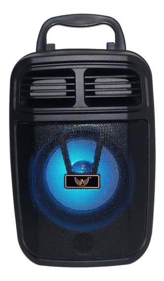 Caixa De Som Rádio Portátil Bluetooth Am Fm Sd Usb Microfone