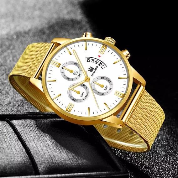 Reloj De Negocios De Lujo De Acero Inoxidable Hombre