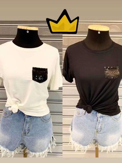 Blusa Camiseta Blusinha Feminina Moda Blogueira