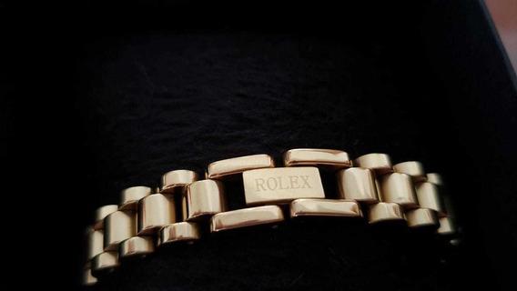 Pulseira Rolex Banhada A Ouro 18k 22cm De Comprimento