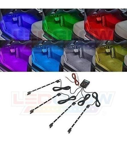 Imagen 1 de 4 de Luces Led Para Interior De Vehiculos Ledglow 4-pieza 7 Color