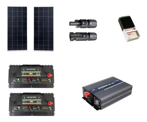 Imagen 1 de 6 de Kit Solar 1300w / H Para Escalar A 3600w / H Panel Solar