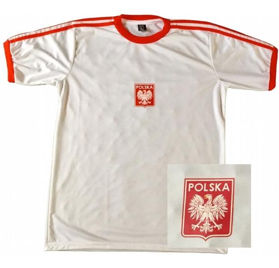 Camiseta Seleccion Polonia Retro Blanca Envio Gratis Y Cuota