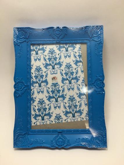 Porta Retrato De Plástico Azul 10cm . 15cm