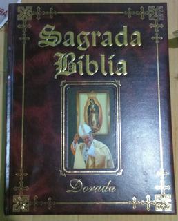 Santa Biblia Sagrada Dorada Edicion Juan Pablo Ii Nueva