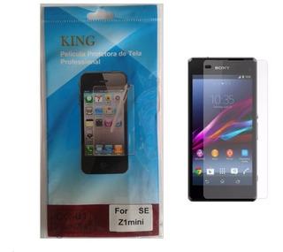 Kit 10 Películas Protetora De Tela Para Sony Xperia Z1 Mini Compact D5503 Frente + Flanela - Invisível / Plástico
