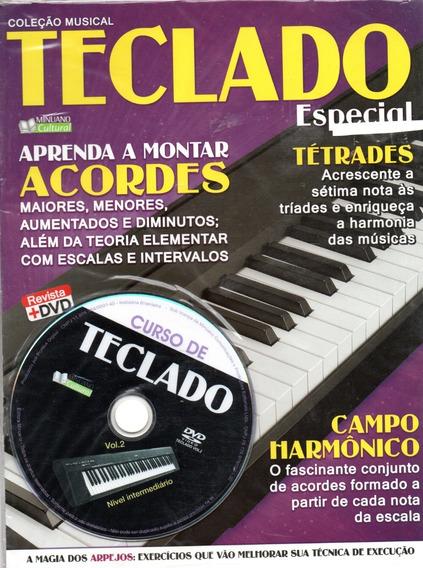 Curso De Teclado Vol.2 - Nível Intermediário - Revista + Dvd