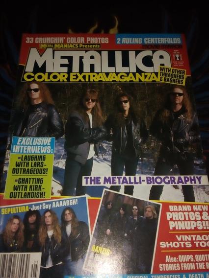 Metallica Revista Metal Maniacs Especial Importada
