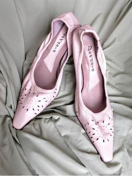 Sapato Scarpin Vazado Com Elástico.