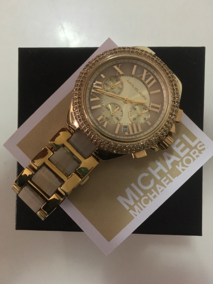 Relógio Michael Kors Feminino Dourado - Original