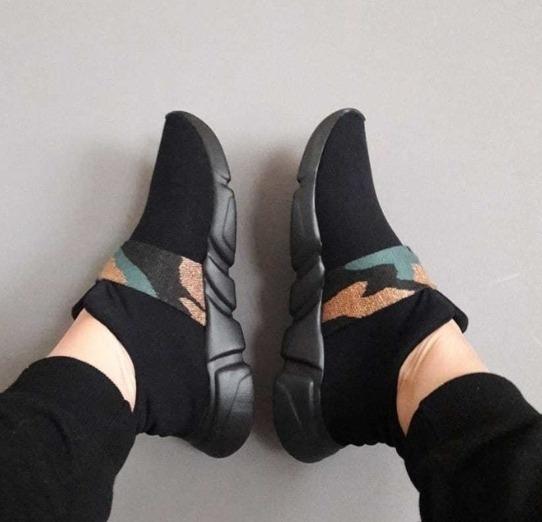 Zapatillas Elastizadas Doblele Sansa Mujer Comodas Colores.