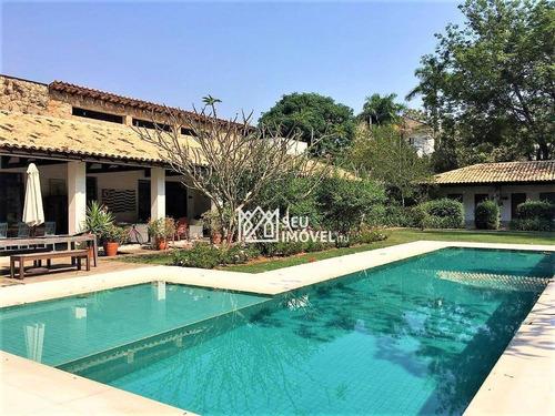 Casa Com 7 Dormitórios À Venda, 578 M² Por R$ 6.200.000,00 - Fazenda Vila Real De Itu - Itu/sp - Ca1465