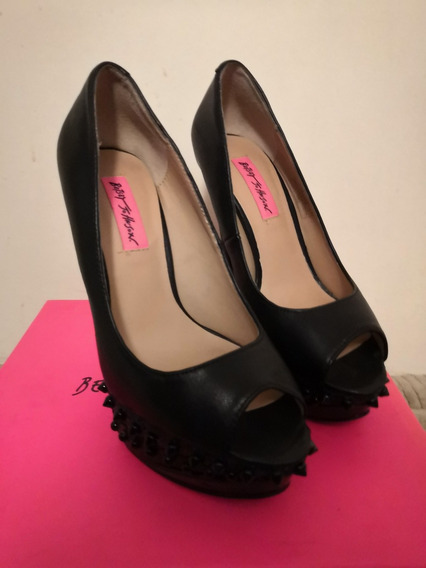 Zapatos Negros Betsey Johnson Talla 36/23.5cm Tacon 12.5